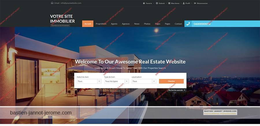 Création site agence immobilière Nice