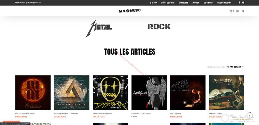 e-shop label rock metal