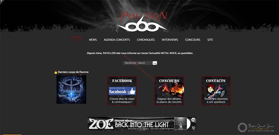 metal rock webzine - pavillon 666